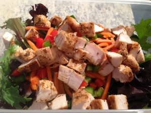 Salad with Chicken for lunch