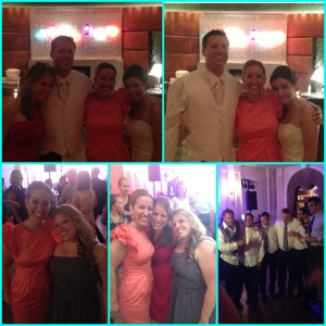 Collage of wedding pics
