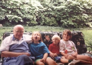 Grandpa George with Erin Michael and Me