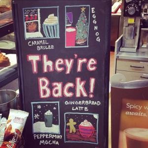 Starbucks drinks are back
