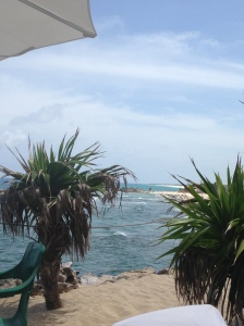 Lunch view in Cozumel